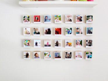 กำแพงแกลเลอรีบล็อกโพลารอยด์ 3 มิติ